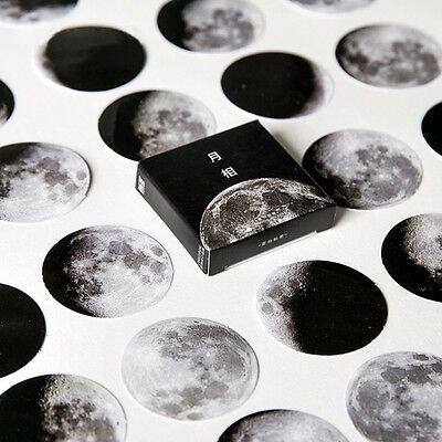 45 Pcs/ Set  Stationery Diary Label Planet Mini Moon Paper Sticker Scrapbooking