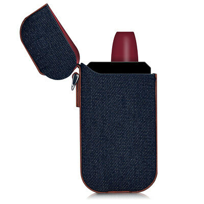 kwmobile BAG CASE FOR IQOS POCKET CHARGER DENIM CASE SYNTHETIC LEATHER CASE