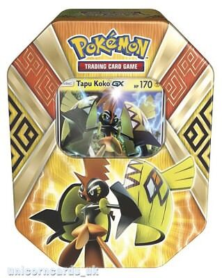 Pokemon TCG: Summer 2017 Island Guardians Tin : Tapu Koko GX :: Brand New And Se