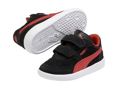 Puma Icra Trainer SD V Kids Black Red 358883 06 Sneakers Size UK 8