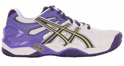 Womens Ladies ASICS Gel Resolution 5 Clay Court Tennis Shoes Trainers Size UK 10