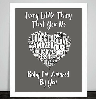 Semisonic Secret Smile Music Love Song Lyrics Art Print Heart Valentine Gift