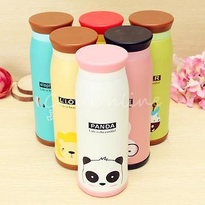500ML Cute Stainless Steel Vacuum Flask Thermos Travel Mug Coffee Cup UK Hot