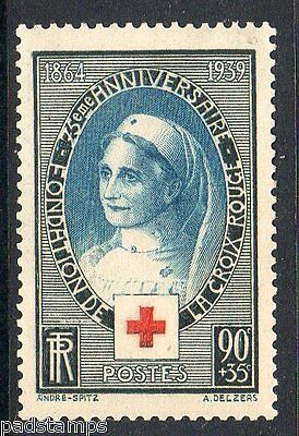 France 1939 75th anniversary of Red Cross vf MINT never hinged  SG 634 CV £10.50
