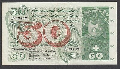 50 Franken From Switzerland 1.6.1955