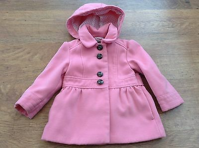 Next Girls Autumn Winter Hooded Duffel Coat 18-24Mths