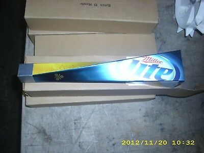 *NEW* MILLER LITE - PRE-PROHIBITION LAGER - BEER TAP HANDLE (Rare)