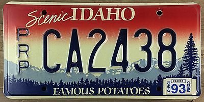 Idaho 1992 - 1993 APPORTIONED TRAILER License Plate!