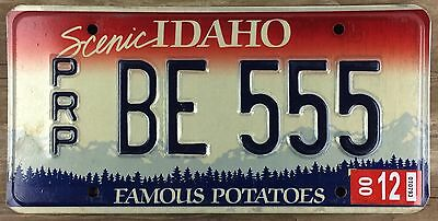 Idaho 2000 APPORTIONED TRUCK License Plate - Repeating Digit 555!