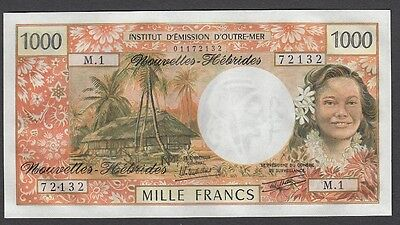 1000 Francs From  New Hebrides Unc