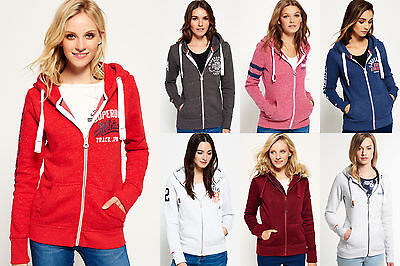 New Womens Superdry Hoodies Selection - Various Styles & Colours 2208