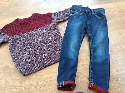 River Island  Next Boys Small Bundle / Outfit 3-4Yrs Jeans Jumper