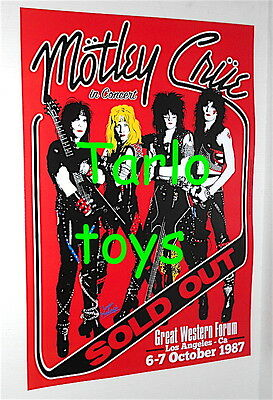 MOTLEY CRUE  - Los Angeles, Usa - 6 october 1987  - concert poster