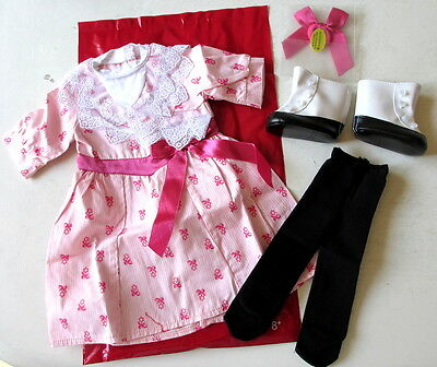 "American Girl Samantha's Flower Picking Pink Dress Outfit Set For 18"" Dolls New"