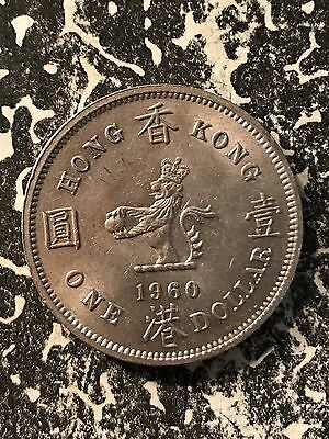 1960-H Hong Kong $1 1 Dollar Lot#7143 High Grade! Beautiful!