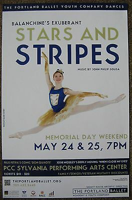 PORTLAND BALLET YOUTH COMPANY POSTER May 2013 Balanchine Oregon Gig Concert