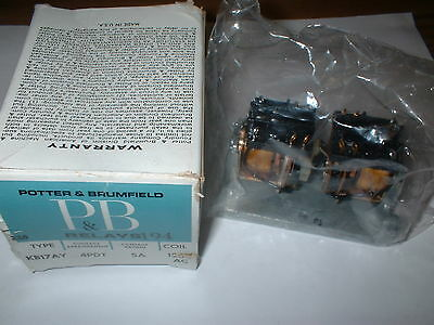 Potter & Brumfield Kb17Ay  Latching Dual Coil Relay  4Pdt 5A 120V Ac Box#66E
