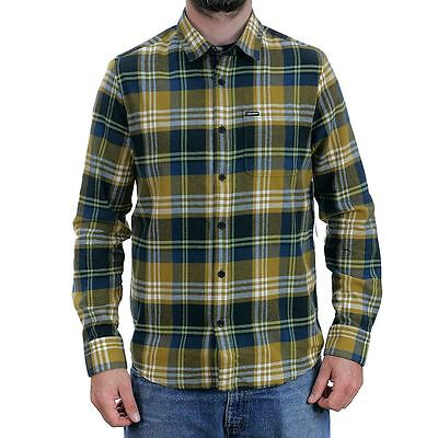 Volcom Caden Long Sleeved Flannel Shirt Brown Skate Surf Snow New Free Delivery