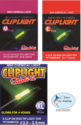 Starlite Cliplight Glow Sticks for Rod Tips - All Sizes