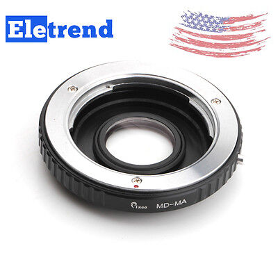 US FAST SHIP Minolta MD Lens To SONY / Minolta MA Adapter Optic With Glass