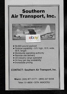 Southern Air Transport Miami Lockheed Hercules L-100 1984 Cargo Charters Ad