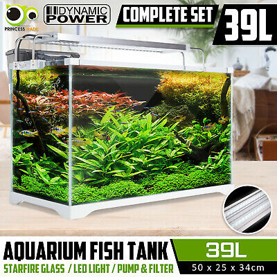 Aquarium Fish Tank Nano STARFIRE LED Light Complete Set Filter Pump 35L