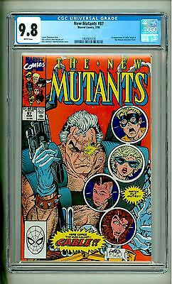 New Mutants #87 Cgc 9.8 First Cable White Pages Deadpool Movie