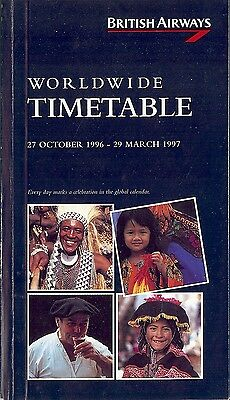 Airline Timetable - British Airways - 27/10/96 - Global Calendar cover