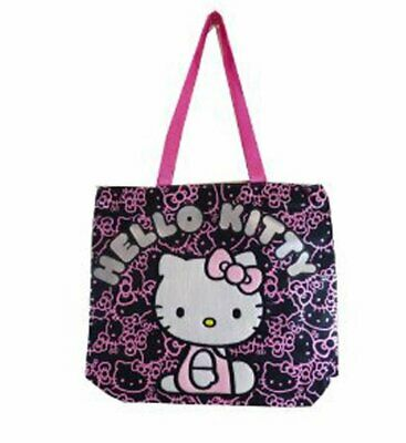 3bdd80872cc9 Tote Bag - Hello Kitty - Black Face Pattern New Gifts Girls Hand Purse 81414