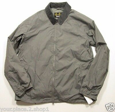 Barbour Men's Gray Lundy Casual Full Zip Windbreaker Jacket