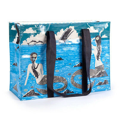 "Shoulder Tote - Blue Q - Mermaid 15x11"" Shopping Bag New QA645"