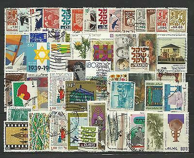 ISRAEL STAMP COLLECTION & PACKET of 50 DIFFERENT Used Stamps NICE SELECTION