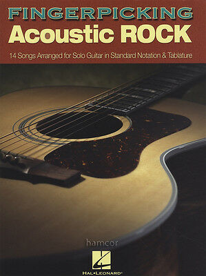 Fingerpicking Acoustic Rock Guitar TAB Music Book Fingerstyle