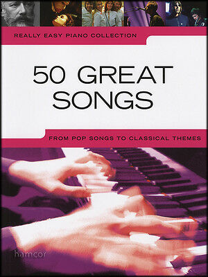 Really Easy Piano 50 Great Songs Sheet Music Book