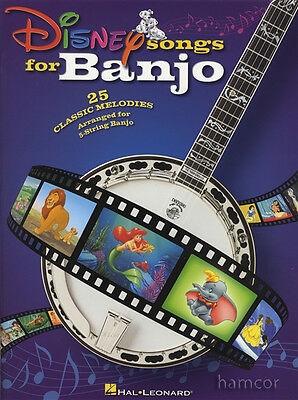 Disney Songs for Banjo 5-String TAB Music Book