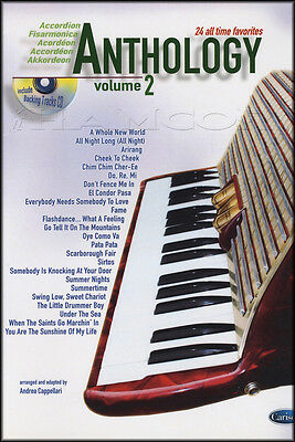 Anthology for Accordion 2 Sheet Music Book/CD 30 All Time Favorites