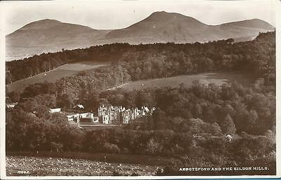 Vintage Edwards Real Photo Postcard - ABBOTSFORD AND THE EILDON HILLS