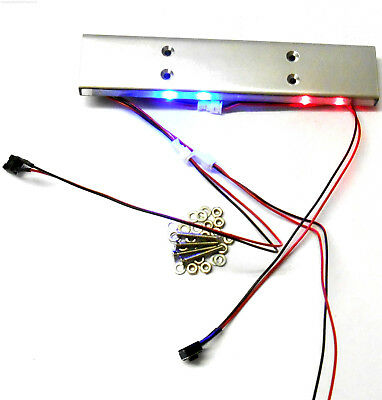 L-001 1/10 Scale Body Shell Direct Roof Mount RC Police Light Bar LED