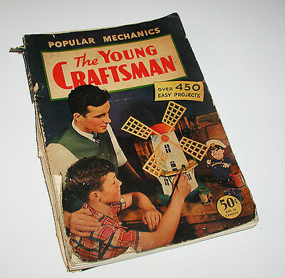 1943 The Young Craftsman Paperback Book 450 Craft Projects By Popular Mechanics