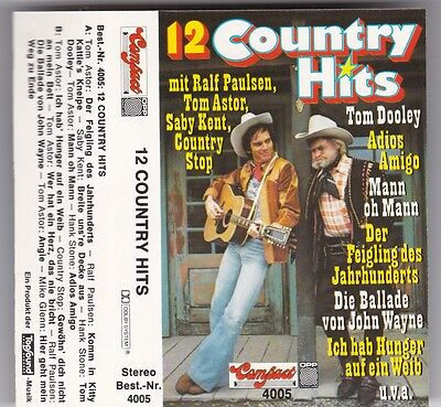 12 Country Hits - Original Mc Ralf Paulsen/tom Astor/saby Kent/country Stop Tape