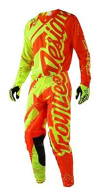 New 2018 Troy Lee GP Jersey Pant Kit Kids Youth SHADOW YELLOW/ORANGE 22 24 26 28