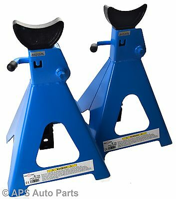 Pair of 6 Ton Tonne Heavy Duty Car Van Vehicle Axle Stands Stand Lift Saddle CE