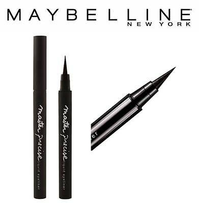 Maybelline Master Precise Liquid Eye Liner Pen Tip  Black / Noir *brand New*