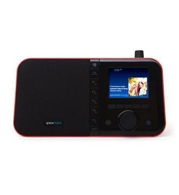 Grace Digital Mondo+ Internet Radio w/ Built-in Chromecast RED GDI-WHA6007
