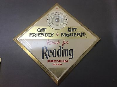 Reading Premium Beer Thermometer 1960's Get Friendly PA