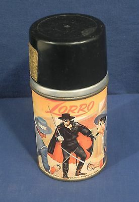 Vtg 1958 Aladdin Metal Thermos Bottle Walt Disney Productions w/ Orig Gold Label