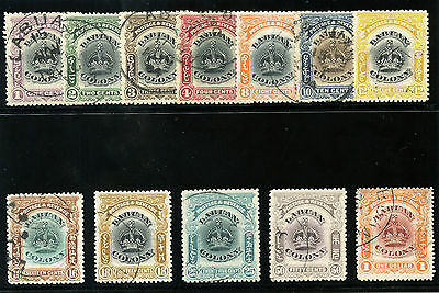 Labuan 1902 KEVII set complete very fine used. SG 117-128. Sc 99A-109.