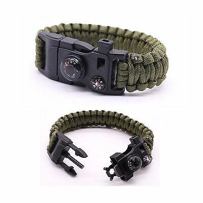 Premium Quality Camping Gear Paracord Survival Bracelet - Best Safety Ban...