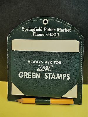 Vintage S & H Green Stamps Grocery Note Holder SPRINGFIELD PUBLIC MARKET MA