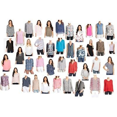 100 NYDJ Not Your Daughters Jeans Tops Blouses Womens Wholesale Lot Petite/Reg